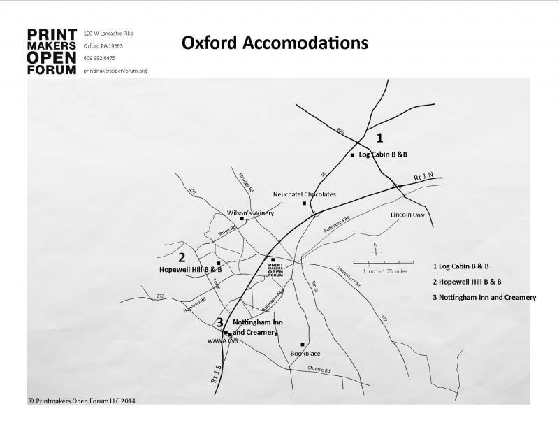 Oxford Accomodations Printmakers Open Forum