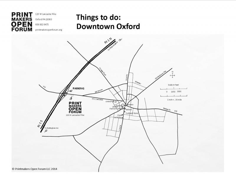 Downtown Oxford things to do Printmakers Open Forum