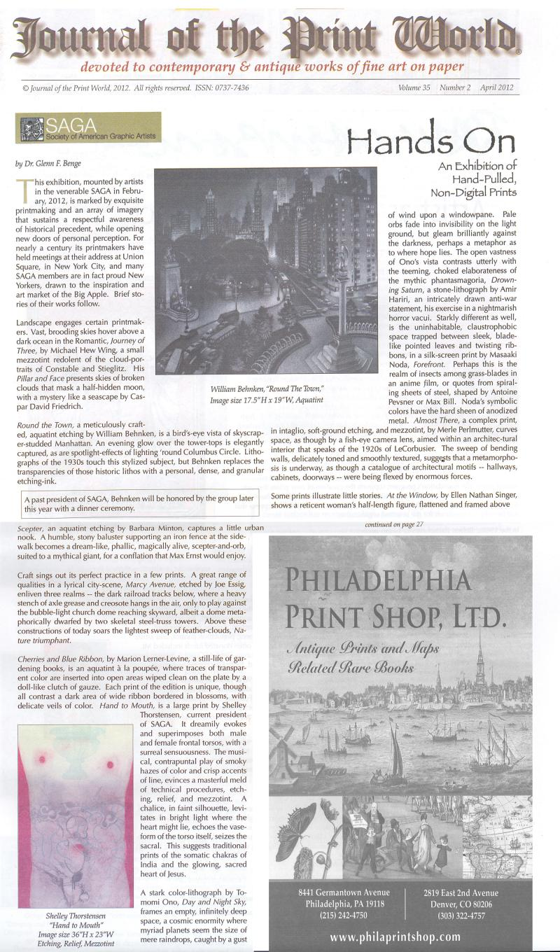 Hands On Shelley Thorstensen review Journal of the Print World