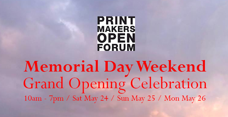 Printmakers Open Forum Memorial Day Open Studio 2014