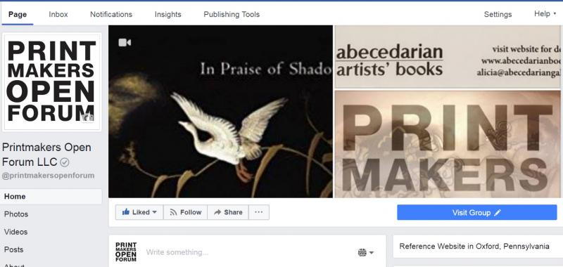 Printmakers Open Forum LLC Facebook page