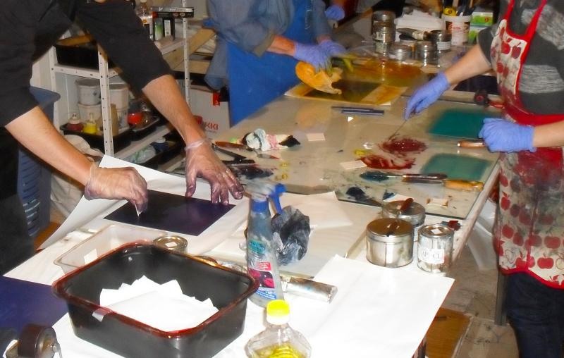 Presto Intaglio Intensive at Center Contemporary Printmaking Shelley Thorstensen